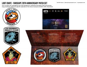 Loot Crate - Farscape Patch Set
