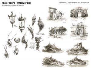 Cradle - Prop & Location Concepts