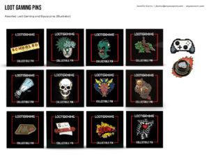 Loot Gaming Pins