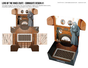 Lord of the Rings Crate Corrugate